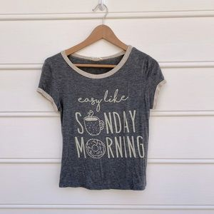 French pastry easy like Sunday morning graphic tee